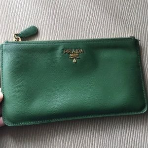 Prada leather pouch wallet